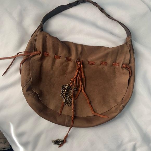 Lucky Brand Handbags - Lucky Brand Hollywood and Vine Leather Hobo Bag
